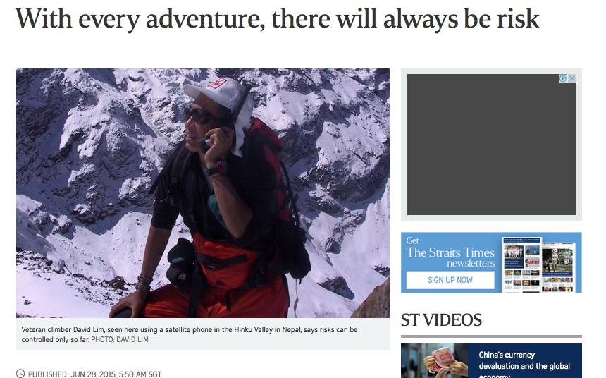 risk and adventure 28.6.2015 sundaytimes